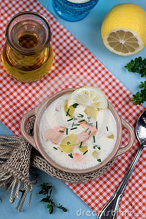 Lohikeitto Finnish Salmon And Potato Soup Stock PhotoImage