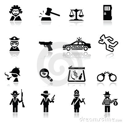 Loi et justice réglées par graphismes