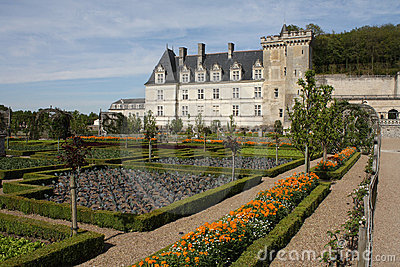 Loire Valley, Villandry castle and gardens