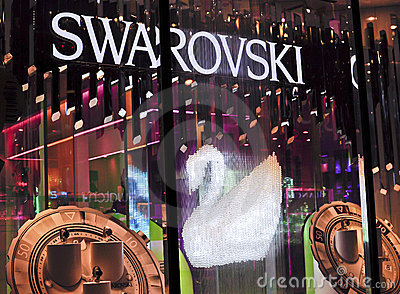Loja de capitânia de Swarovski Foto Editorial