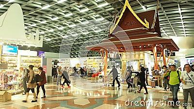 Loja isenta de direitos aduaneiros no aeroporto de Suvanaphumi filme