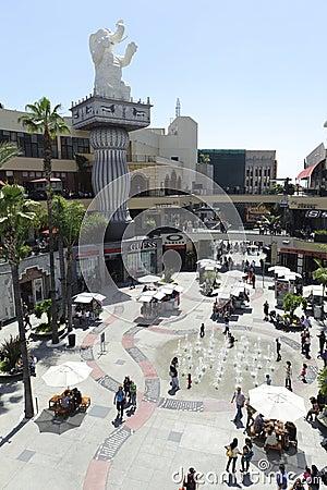 Lojas e restaurantes no teatro de Kodak Imagem de Stock Editorial