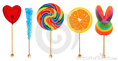 Lolipops - candy on a stick