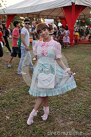 Lolitas festival Animes Editorial Photo