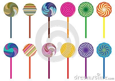 Lollipop Candy Set_eps