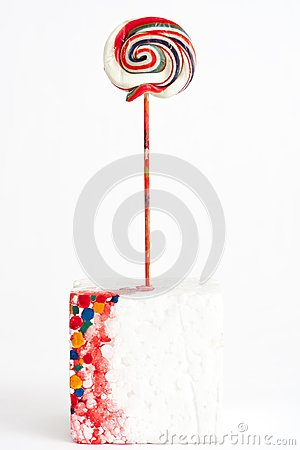 Free Lollipop Colors On White Background Royalty Free Stock Photography - 104633517