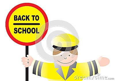 Lollipop lady back to school