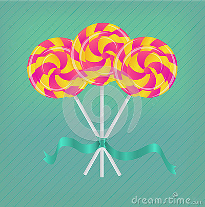Lollipop with ribbon