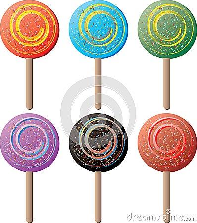 Lollipop round