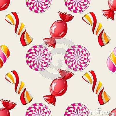 Lollipop seamless pattern