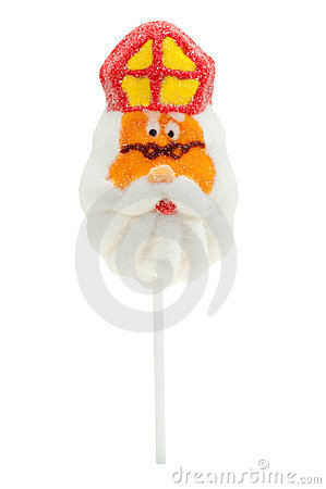 Lollipop in the shape of Sinterklaas