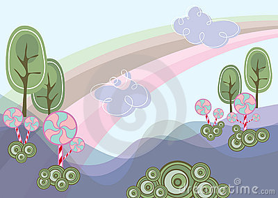 Lollipops purple wonderland