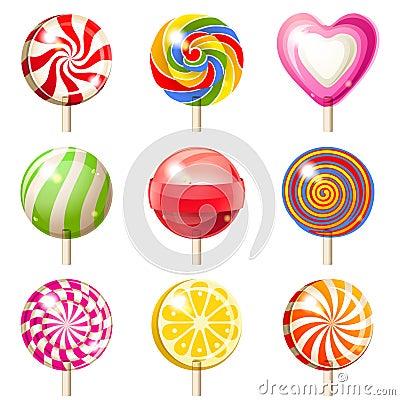 Free Lollipops Set Stock Images - 33281604