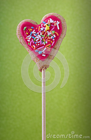 Lolly with heart shape