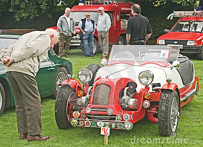 Lomax kit car at Fortrose. Editorial Stock Photo