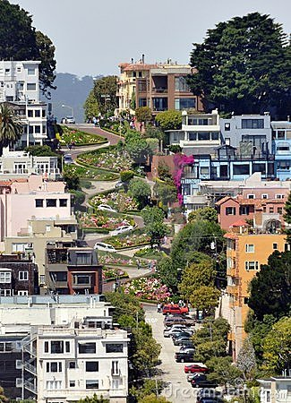 Free Lombard Street In San Francisco, California Stock Photo - 22123620