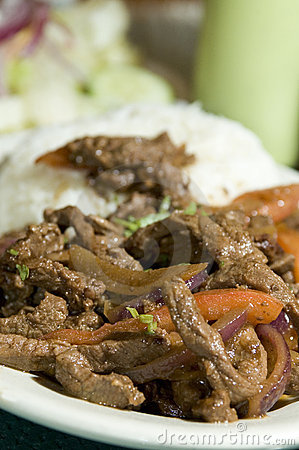 Lomo saltado peruvian steak