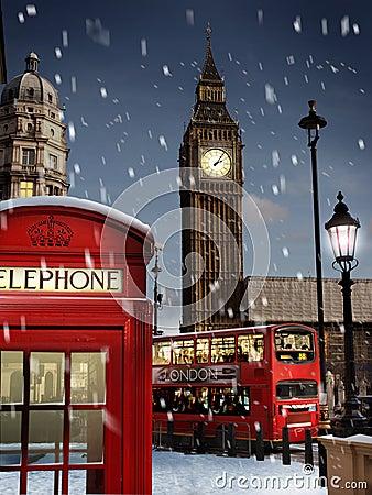 Londen bij Kerstmis