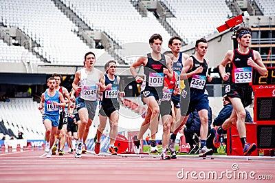 Londen treft voorbereidingen: Olympische testgebeurtenissen Redactionele Fotografie
