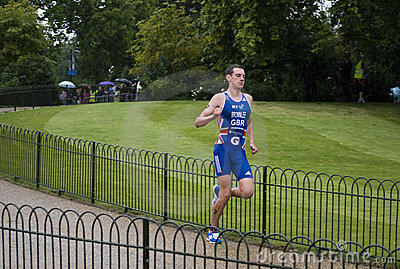 London 2011 Triathlon - Alistair Brownlee Editorial Image