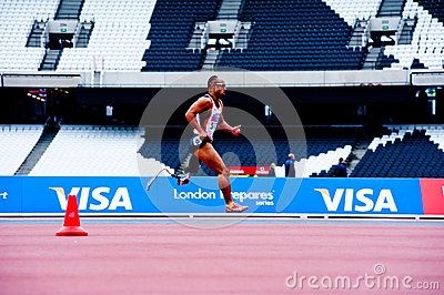 London 2012: athlete running Editorial Stock Image