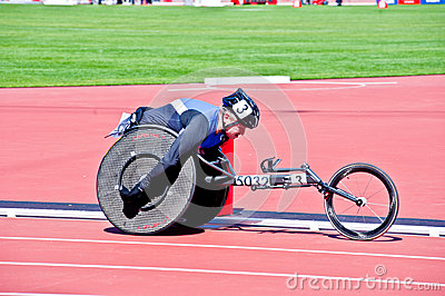 London 2012: athlete on wheelchair Editorial Photo