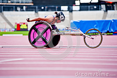 London 2012: athlete on wheelchair Editorial Stock Photo
