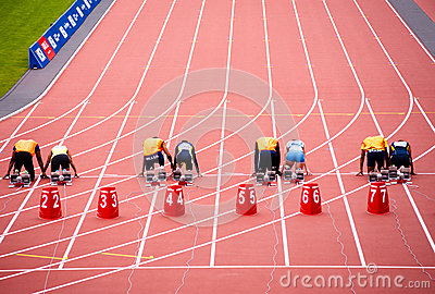 London 2012: athletes ready to race Editorial Photography