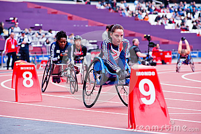 London 2012: athletes on wheelchair Editorial Photo