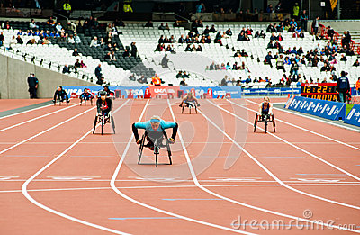 London 2012: athletes on wheelchair Editorial Stock Image