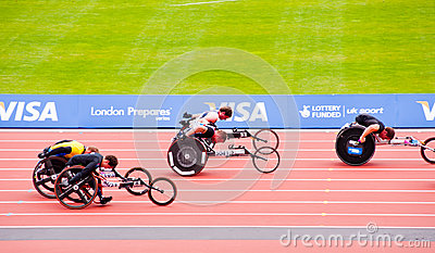 London 2012: athletes on wheelchairs Editorial Photography