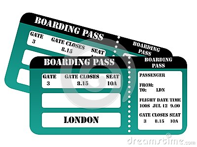 London 2012 boarding passes