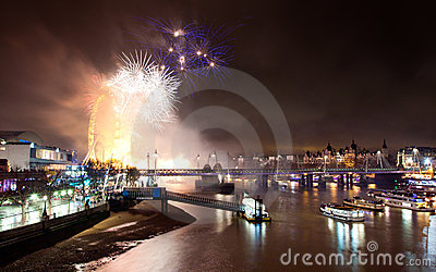 London 2012 Fireworks Editorial Image