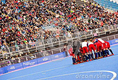 London 2012: Hockey british team Editorial Photo