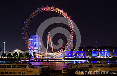 London 2012, London eye Editorial Stock Photo