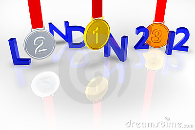 London 2012 with Medals and reflection