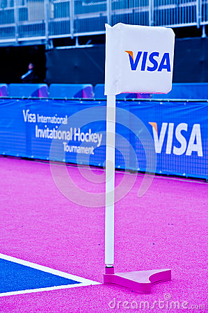 London 2012: official visa sponsor Editorial Stock Photo