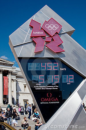 London 2012 Olympic Countdown Clock Editorial Photography