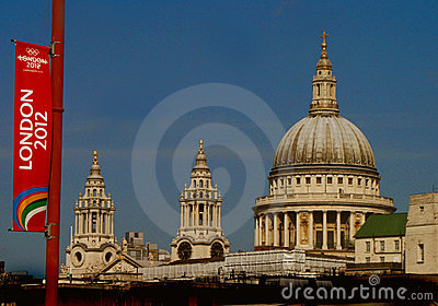 London 2012 Olympic Games Flag Editorial Stock Photo