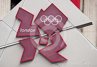 London 2012 Olympic Games logo Editorial Photography