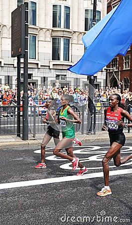 London 2012 Olympic Marathon Editorial Photo