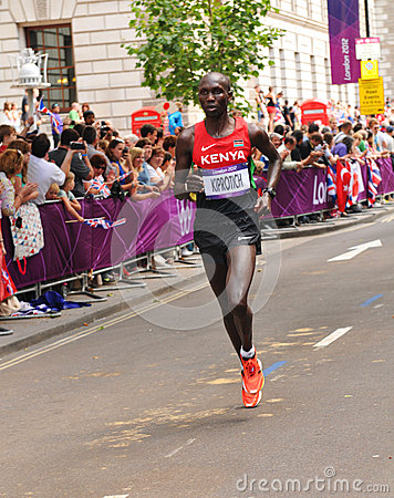 London 2012 Olympic Marathon Editorial Stock Image