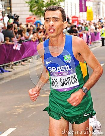 London 2012 Olympic Marathon Editorial Stock Photo