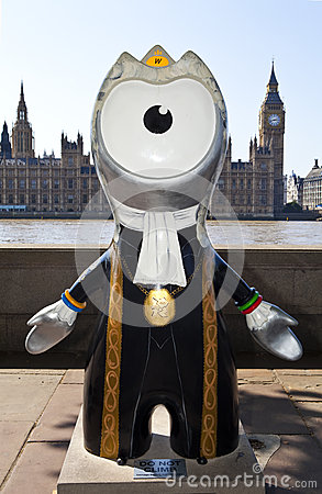 London 2012 Olympic Mascot Editorial Stock Photo
