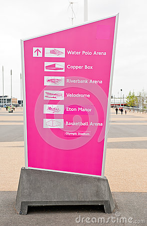 London 2012: olympic park Editorial Stock Image