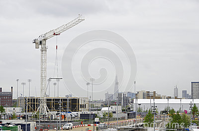 The London 2012 olympic park under construction Editorial Stock Photo