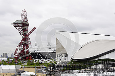The London 2012 olympic park under construction Editorial Image