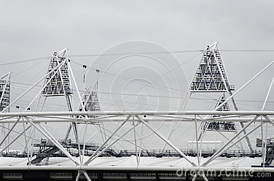 The London 2012 olympic park under construction Editorial Stock Image