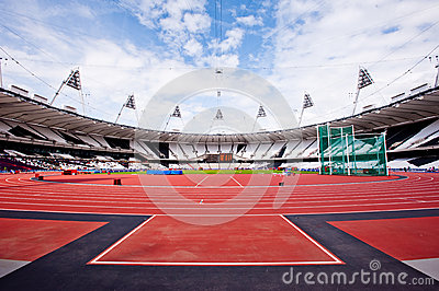 London 2012 Olympic stadium Editorial Stock Photo
