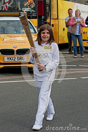 London 2012 Olympic Torch Relay Editorial Stock Photo